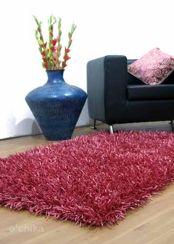 Pink wool rug